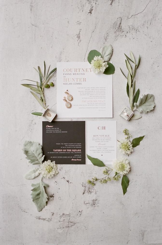 Modern luxury wedding invitation