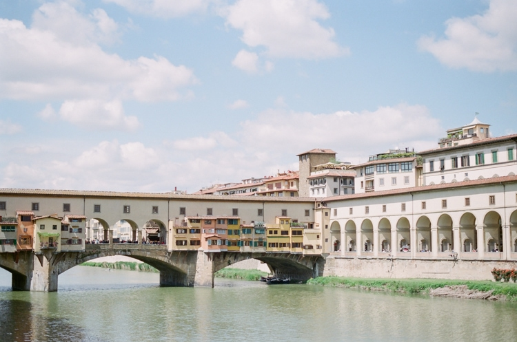 River Arno and Ponte Vecchio in Florence Italy