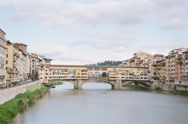 Ponte Vecchio on the river Arno in Florence Italy