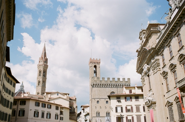 Signoria square in Florence Italy