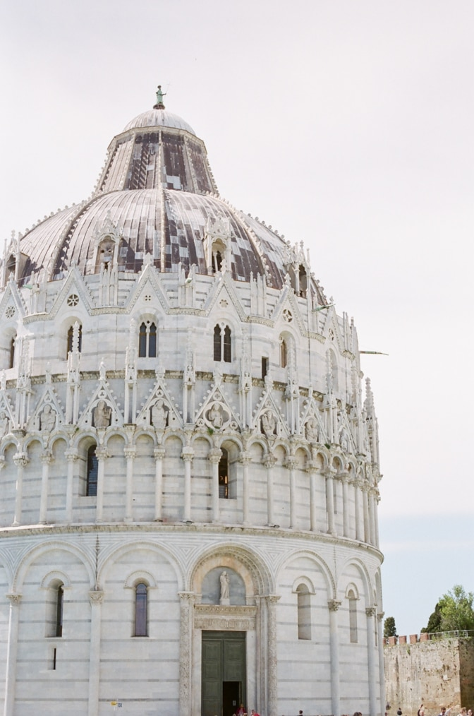 The Baptisery in Pisa Italy on my luxury destination wedding photographer's tour guide to Tuscany
