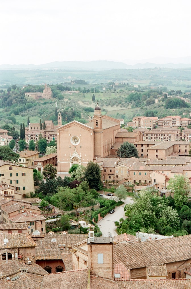 Aerial view of Siena in Italy