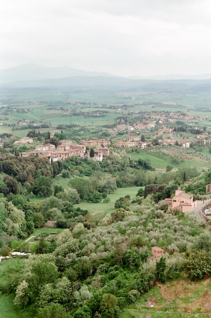Tuscany landscape and its romantic city Siena in Italy