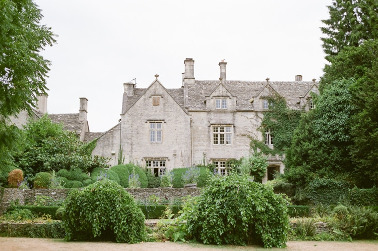 Front side of the luxury English wedding venue in the Cotswolds - the Barnsley House
