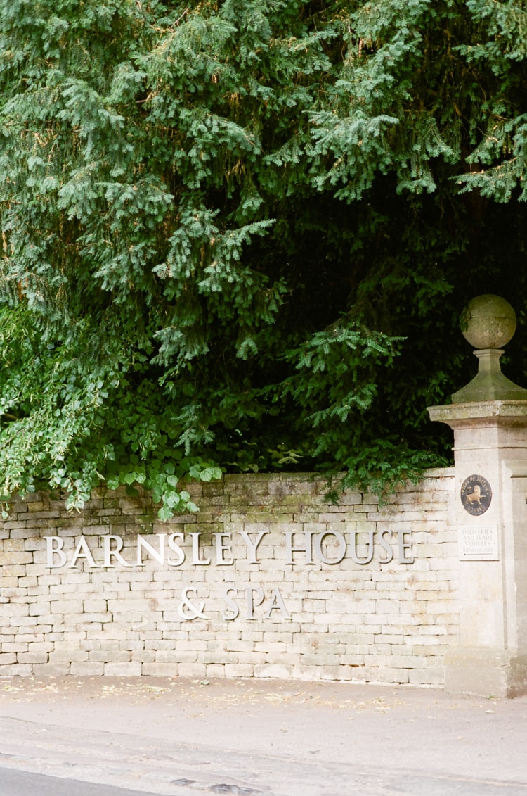 Entrance gate of the Barnsley House in the Cotswolds