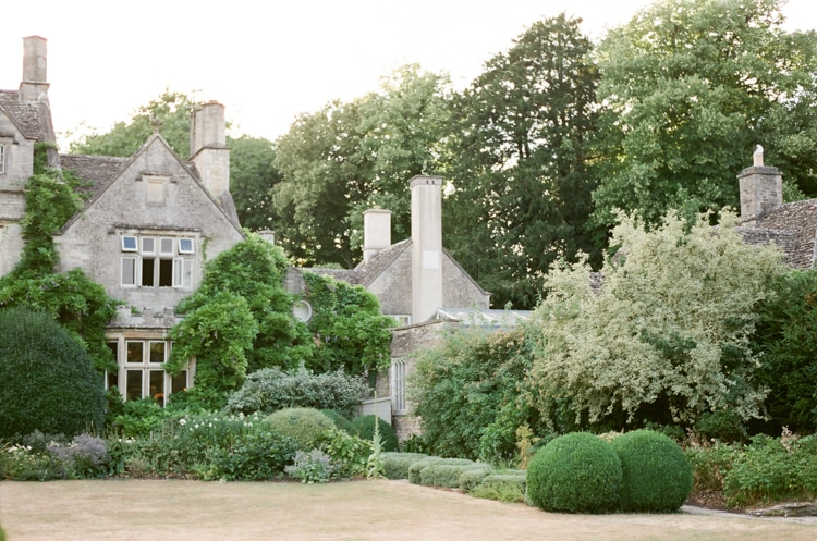 Gardens on the backside of the Barnsley House in the Cotswolds in England