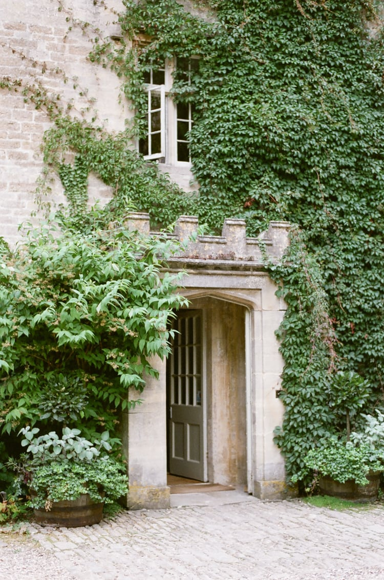 Front door of the Barnsley House in the Cotswolds in England