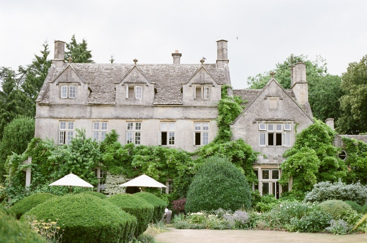 Backside of the Barnsley House in the Cotswolds in England
