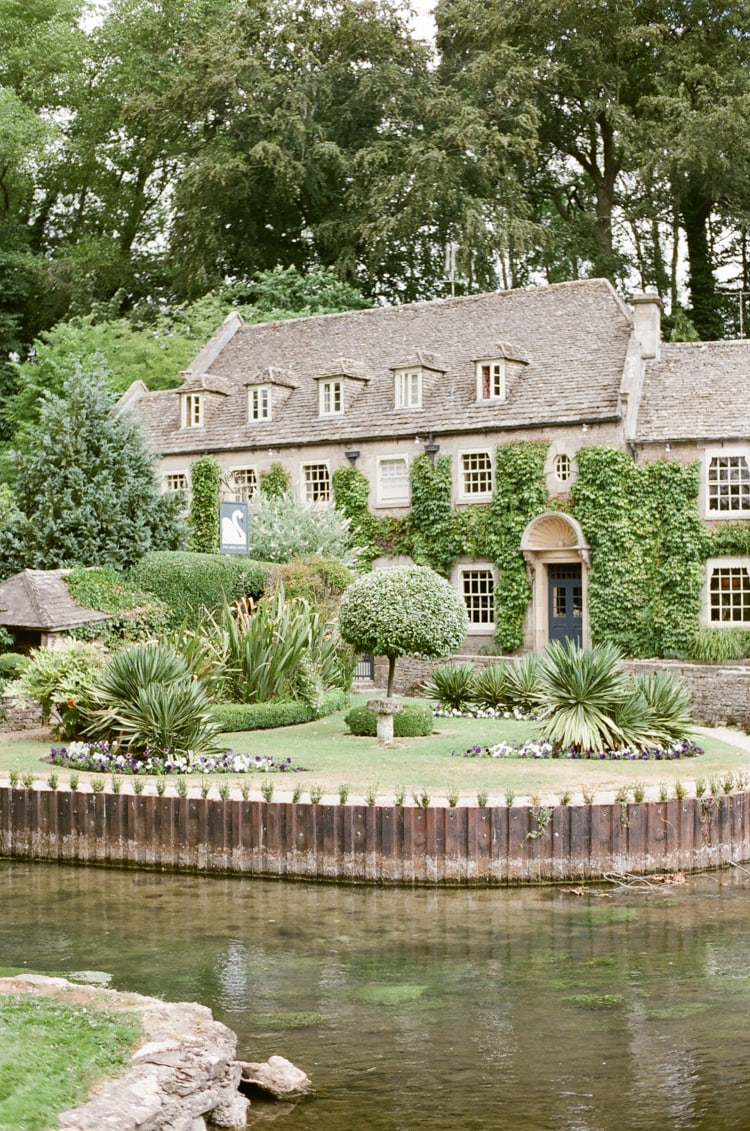 Bibury Trout Farm in the Cotswolds in England