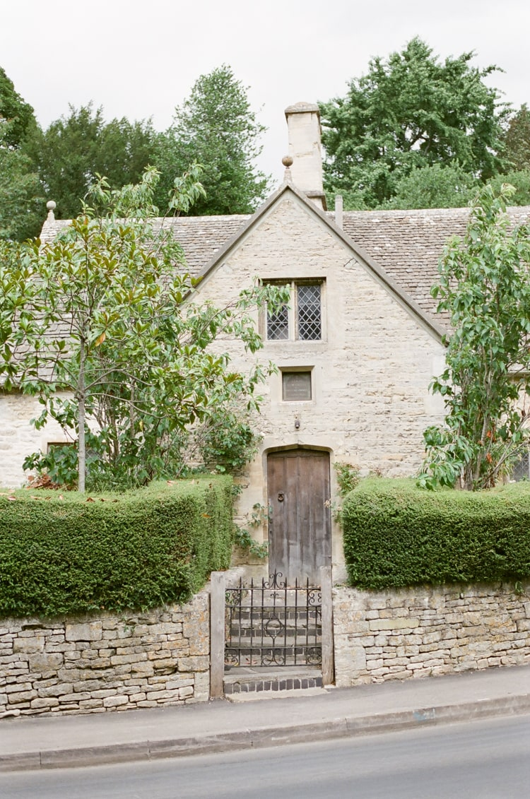 House entrance in Bibury in the Cotswolds in England