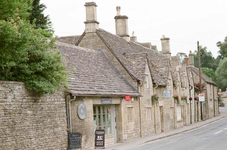 Post office in Bibury in the Cotswolds in England