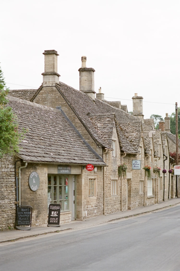 Post office building in Bibury in the Cotswolds in England