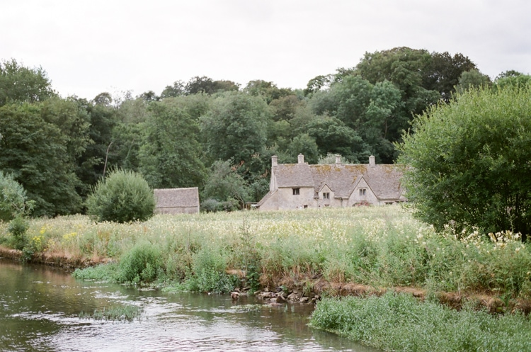 Bibury on the river in the Cotswolds in England