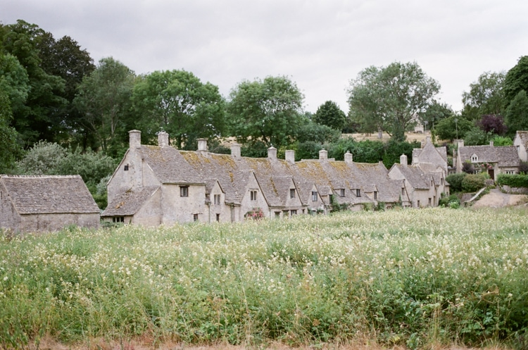 Arlington Row in Bibury in the Cotswolds in England