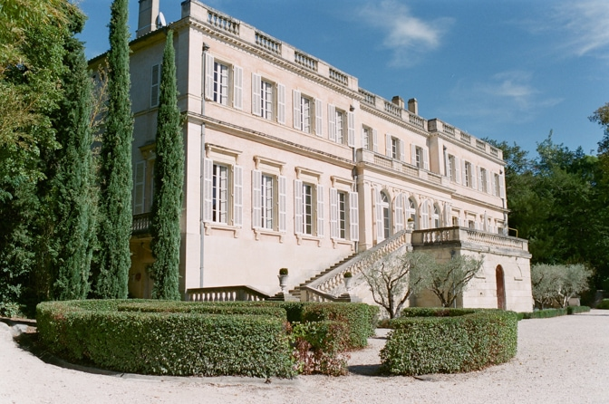 Backside of Chateau Martinay in Provence France