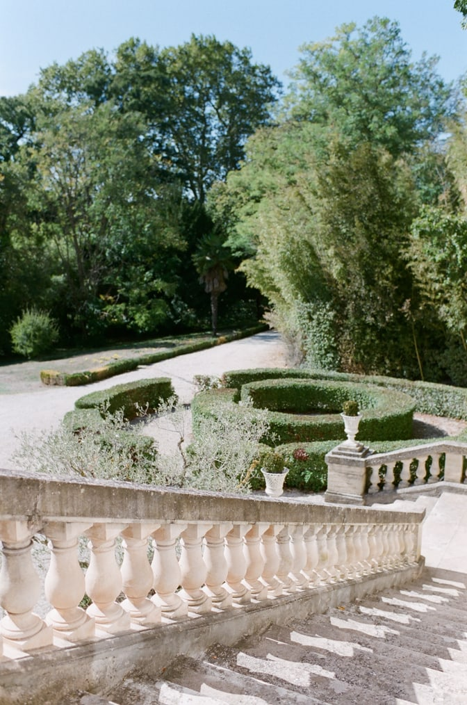 Stairs at Chateau Martinay leading to the backyard