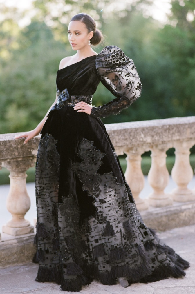 LUXURY WEDDING DREAMS IN BLACK WITH A ZIAD NAKAD COUTURE GOWN