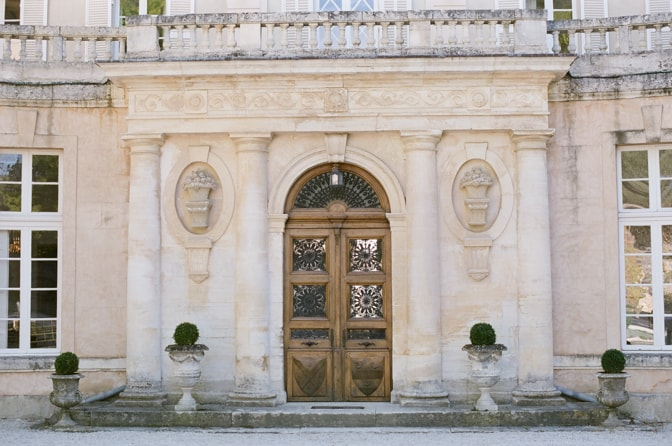 Front door of Chateau Martinay in Provence France