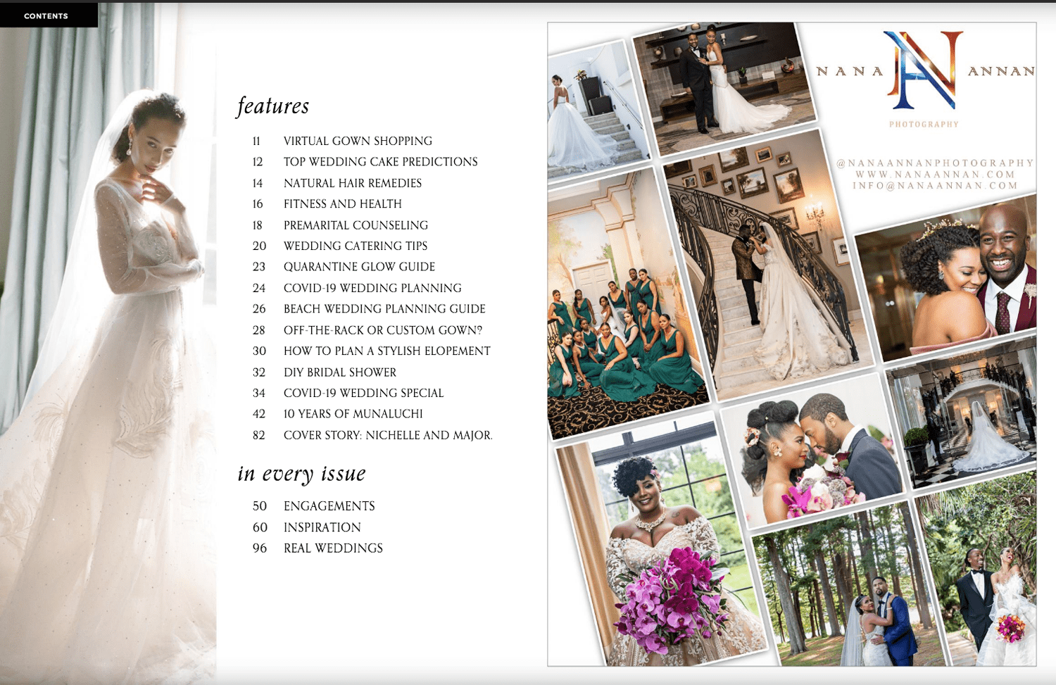 Content page of Muna Luchi Spring / Summer 2020 edition