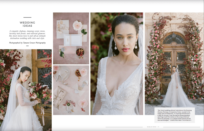 Chateau Martinay wedding published in Muna Luchi Spring / Summer 2020 edition