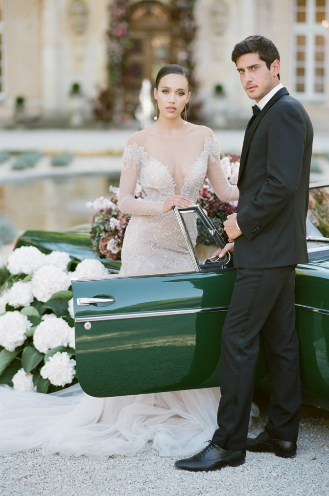 Chateau Martinay wedding couple and their grand exit