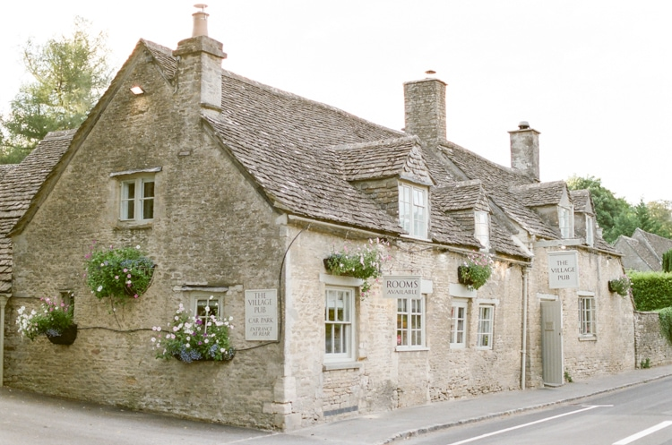 The Village Pub in Cirencester in the Cotswolds in England