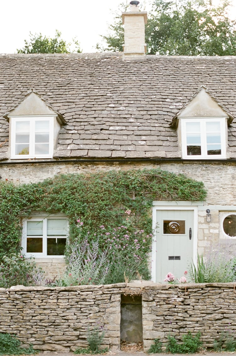 Entrance of a house in Cirencester in the Cotswolds in England