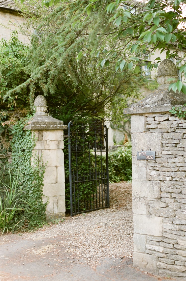 A gate in Cirencester in the Cotswolds in England