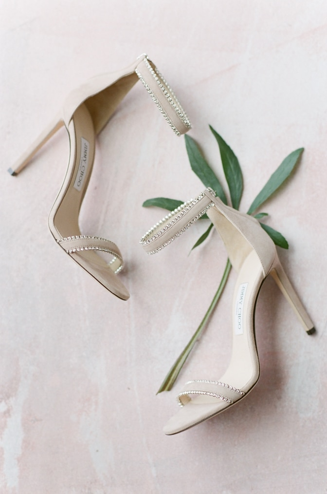 Blush Jimmy Choo shoes