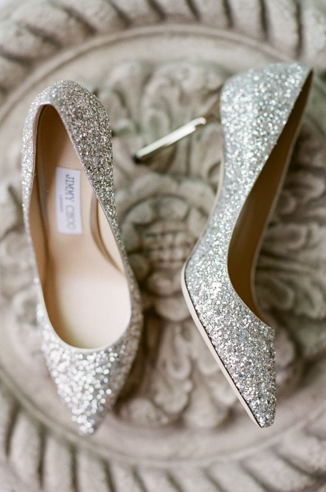 Silver glitter Jimmy Choo shoes