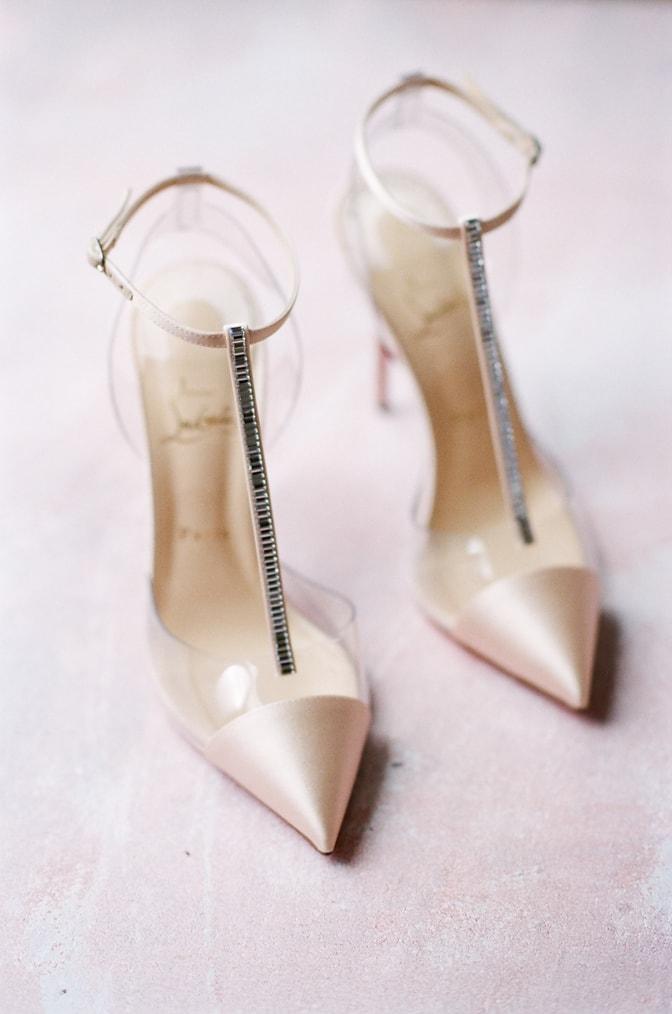 Louboutin blush luxury shoe
