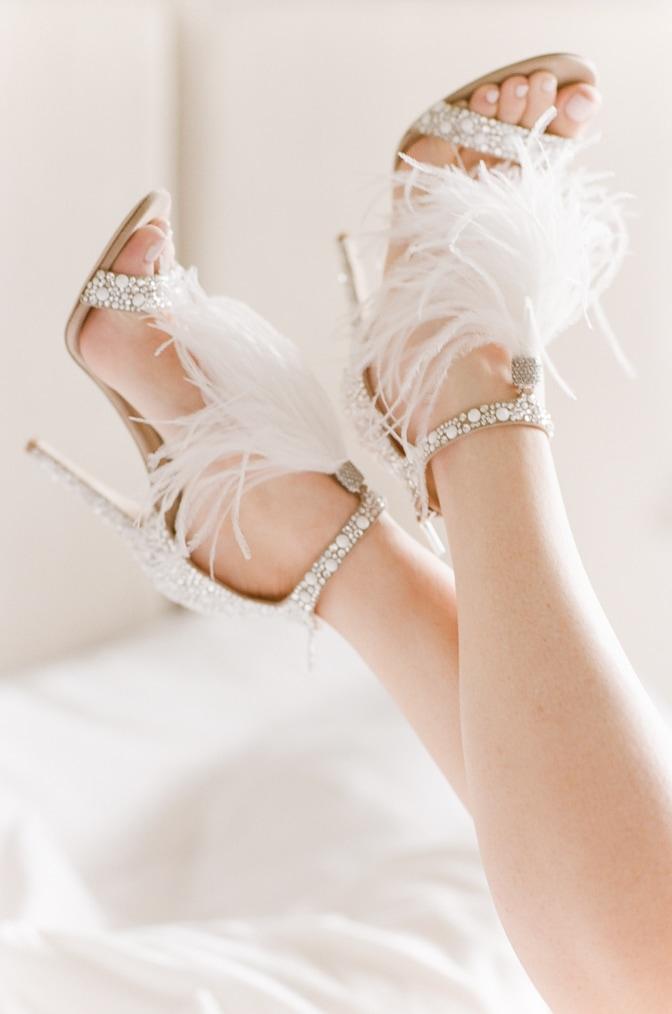 Luxury wedding shoe of Jimmy Choo