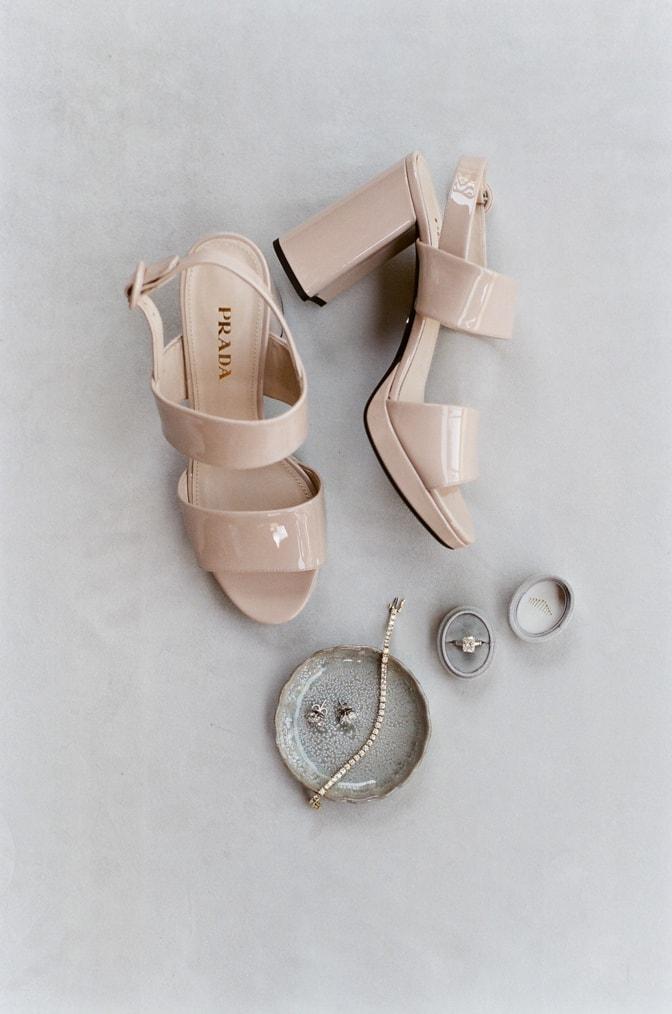 Luxury wedding shoes form Prada