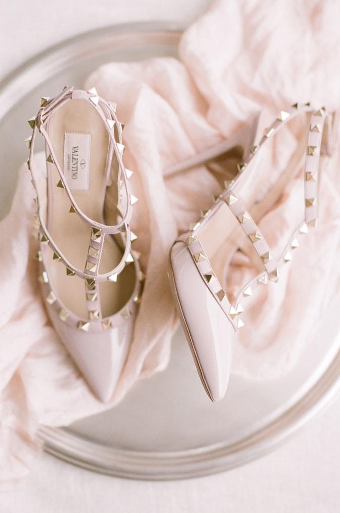 Blush rockstud Valentino shoes