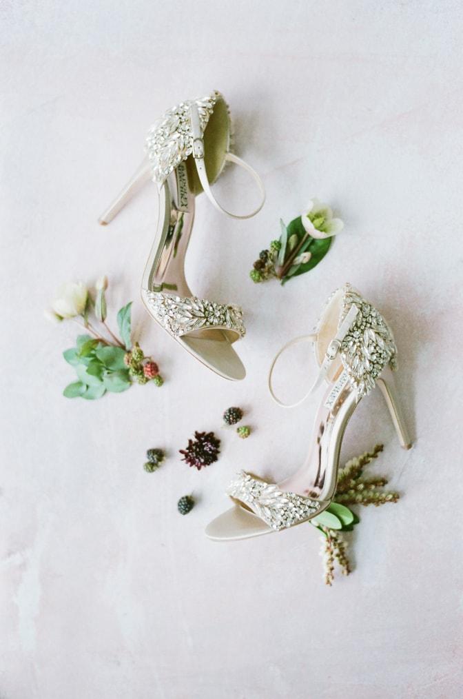 Luxury wedding shoes from Badgley Mischka