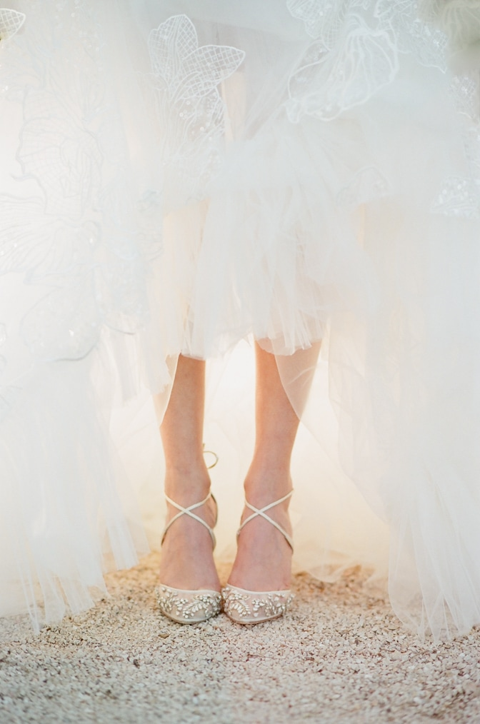 Gold pumps wedding shoes from Bella Belle