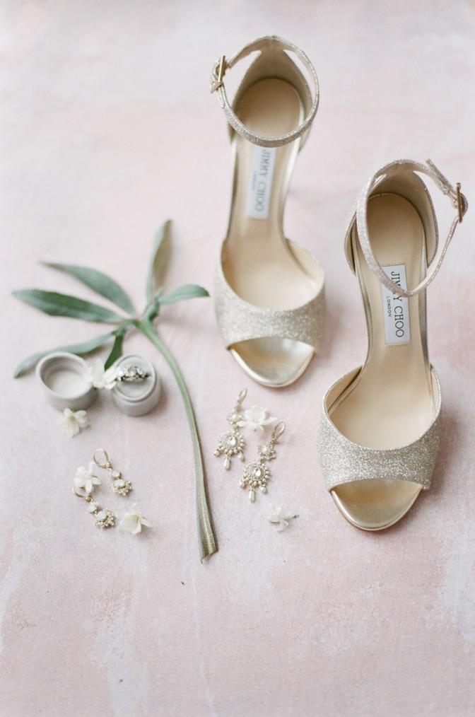 Luxury wedding shoes of Jimmy Choo