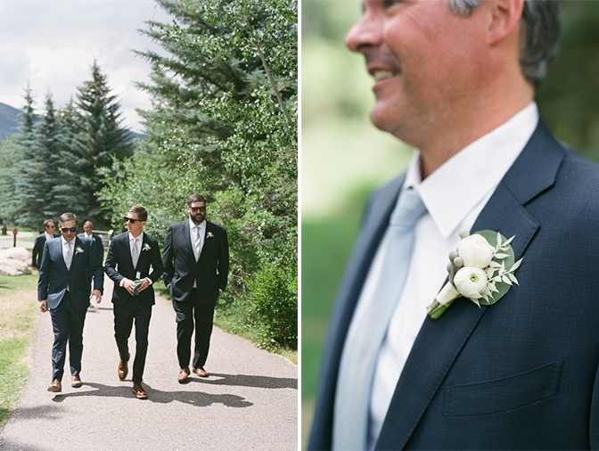 Groom session with groomsmen at Larkspur Events and Dining in Vail