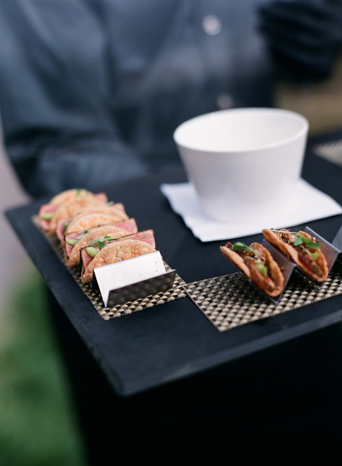 Serving food on plate at Larkspur Events and Dining in Vail