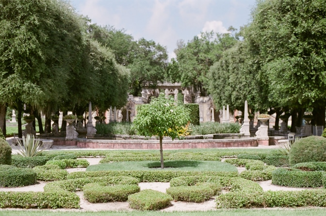 The gardens at Vizcaya Museum and Gardens in Miami Florida