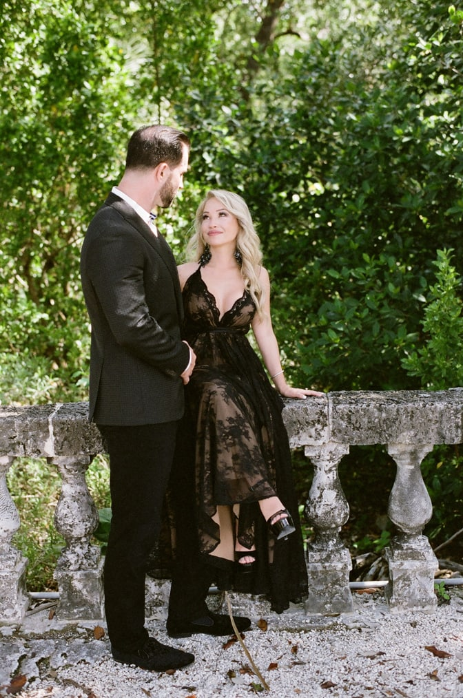 FASHION-FORWARD ENGAGEMENT AT VIZCAYA MUSEUM AND GARDENS IN MIAMI