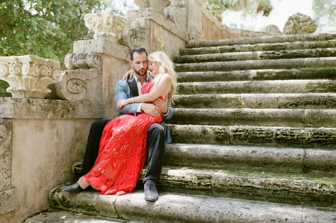 Vizcaya Museum and Gardens in Miami Florida engagement session