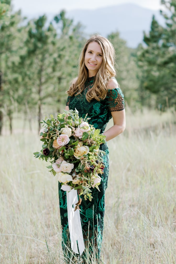Bride to be during her Colorado engagement session