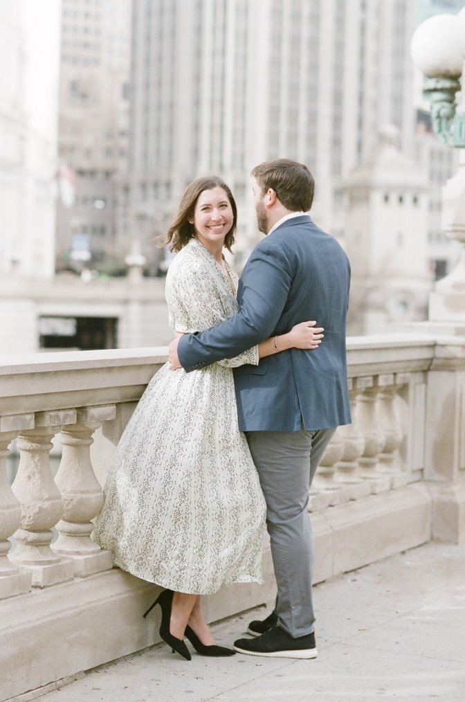 Winter Engagement Session during Christmas in Chicago