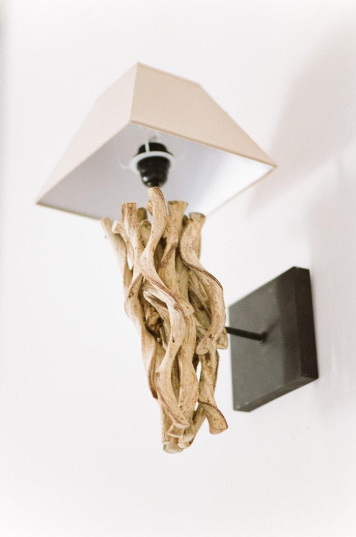 Closeup of wall lamp