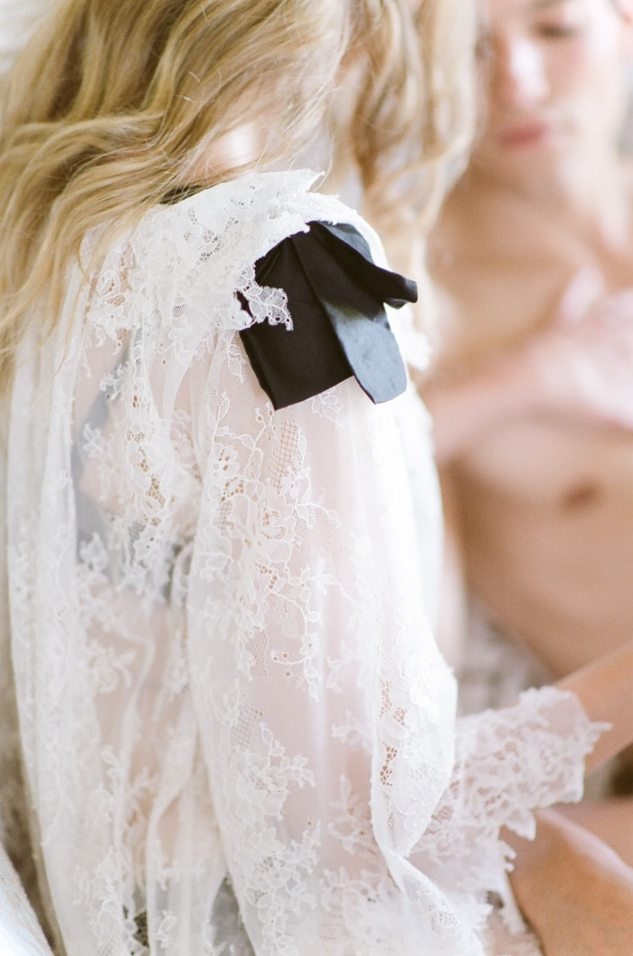 Lace details of a top from Veronica Sheaffer
