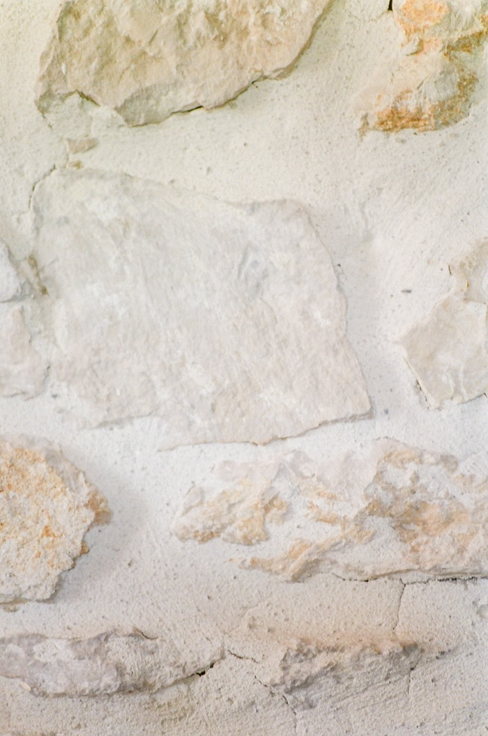 Closeup of a stonewall in Provence