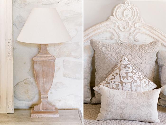 Closeup of bed cushions
