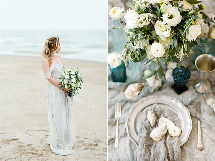 Chicago Bride standing at the North Avenue Beach holding her wedding bouquet