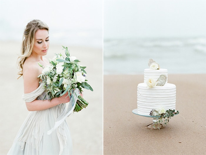 Wedding cake for a Chicago elopement at the North Avenue Beach